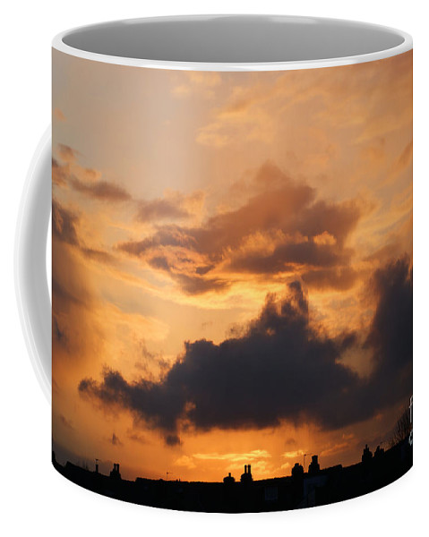 Sunset Coffee Mug featuring the photograph Rooftop Sunset 3 by Carol Lynch