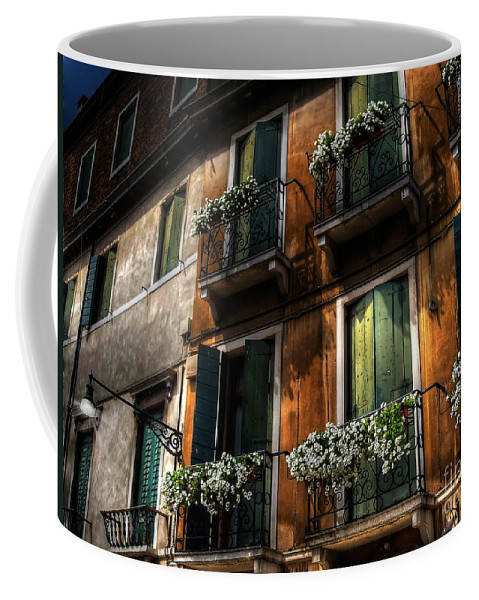 Venice Coffee Mug featuring the photograph Rooms With A View by Lois Bryan
