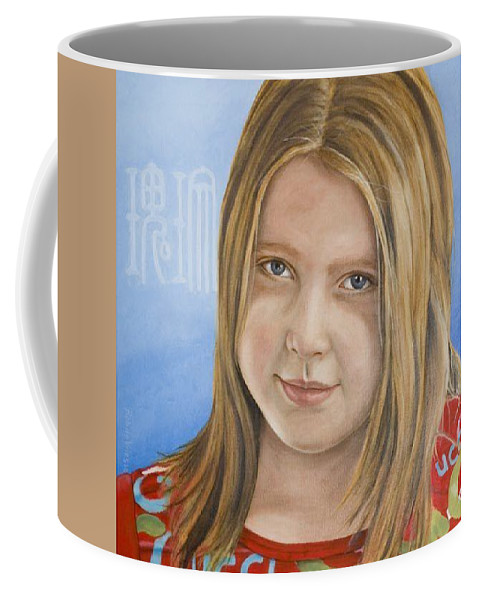Portrait Coffee Mug featuring the painting Roos by Rob De Vries