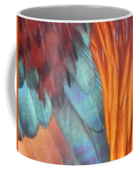 Rooster Coffee Mug featuring the photograph Rooster Art Palette by Jan Gelders