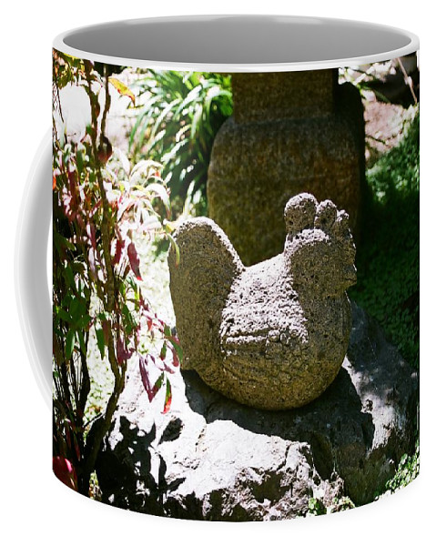 Stone Coffee Mug featuring the photograph Rooster by Dean Triolo