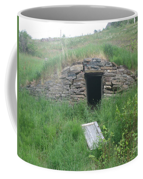 Photograph Cellar Old Green Newfoundland Coffee Mug featuring the photograph Root Cellar by Seon-Jeong Kim