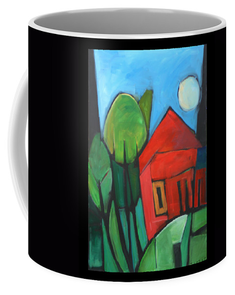 Trees Coffee Mug featuring the painting Root Cellar by Tim Nyberg