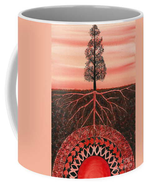 Chakra Coffee Mug featuring the painting Root Chakra by Catherine G McElroy