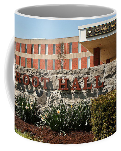 Army Coffee Mug featuring the photograph Root Hall 1 by Jean Macaluso
