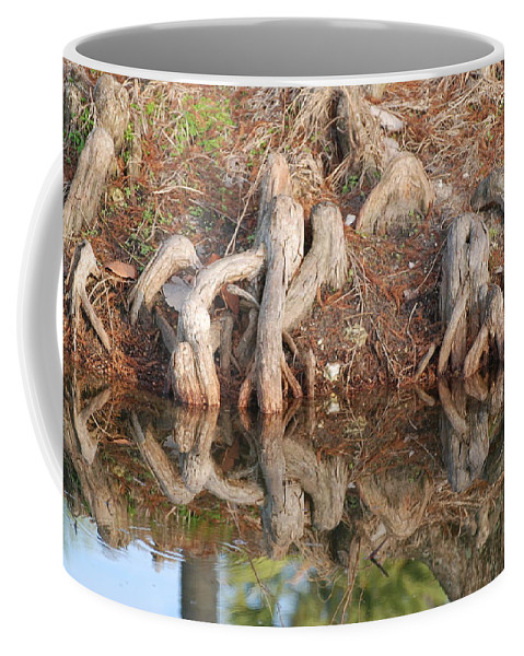 Roots Coffee Mug featuring the photograph Rooted Reflections by Rob Hans