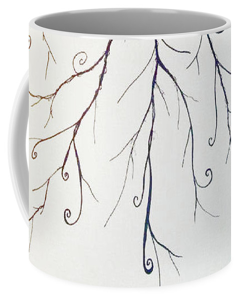 Tree Coffee Mug featuring the painting Roots Of A Tree by Emily Perry