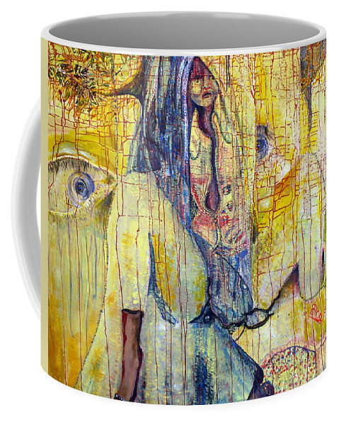 Portrait Coffee Mug featuring the painting Roots by Peggy Blood