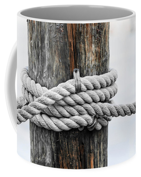 Rope Coffee Mug featuring the photograph Rope Fence Fragment by Elena Elisseeva
