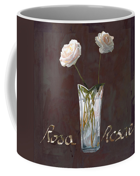 Rasa Coffee Mug featuring the painting Rosa Rosae by Guido Borelli