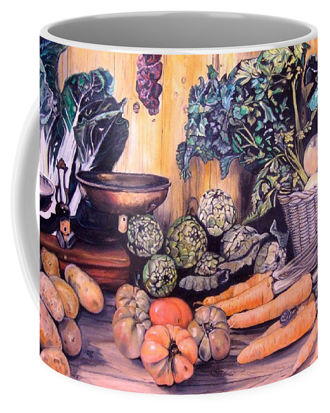 Vegetables Coffee Mug featuring the painting Rosas Stand by Ralf Glasz
