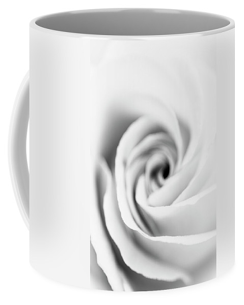 Rose Coffee Mug featuring the photograph Rose Abstract In Black And White by Vishwanath Bhat