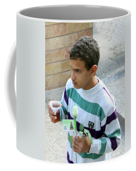 Kid Coffee Mug featuring the photograph Rose And Tea by Munir Alawi