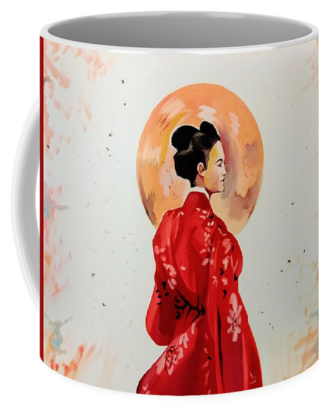 Coffee Mug featuring the painting Rose Asia by Lisandro Rodriguez