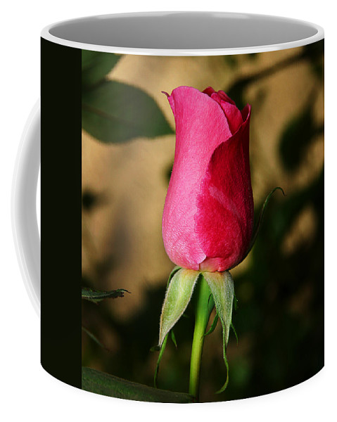 Rose Coffee Mug featuring the photograph Rose Bud by Anthony Jones