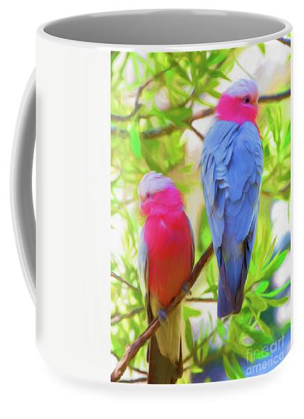 Galahs Coffee Mug featuring the photograph Rose cockatoos by Sheila Smart Fine Art Photography