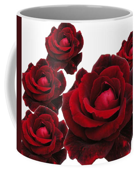 Red Coffee Mug featuring the photograph Rose Collage by Margit Gentile