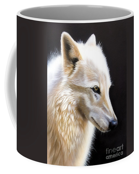 Acrylic Coffee Mug featuring the painting Rose 3 by Sandi Baker
