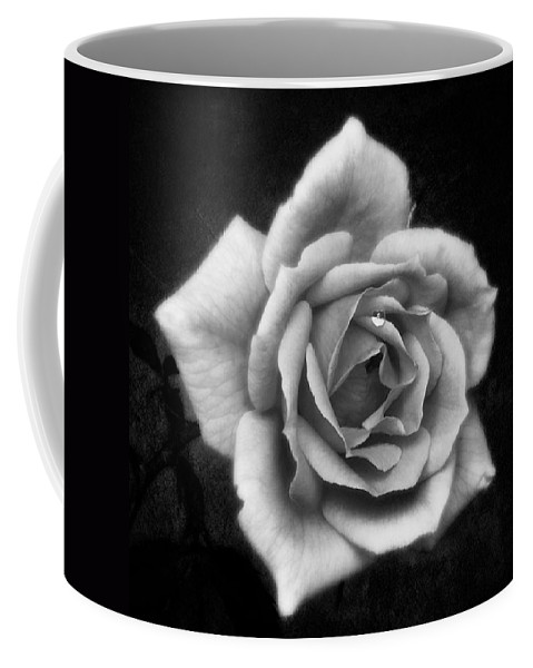 Beautiful Coffee Mug featuring the photograph Rose In Mono. #flower #flowers by John Edwards
