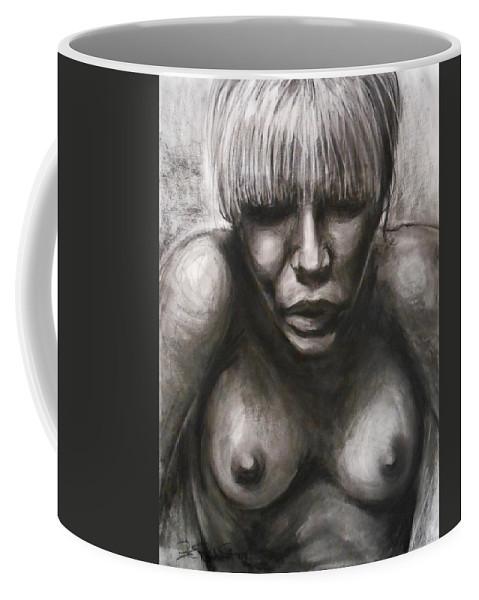 Emotional Coffee Mug featuring the drawing Rose by Jason Reinhardt