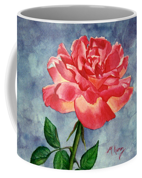 Rose Coffee Mug featuring the painting Rose by Melissa Joyfully