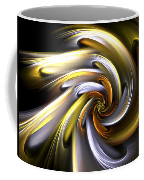 Fractal Coffee Mug featuring the digital art Rose Of Sunlight by Amorina Ashton