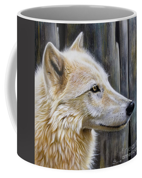 Wolves Coffee Mug featuring the painting Rose by Sandi Baker