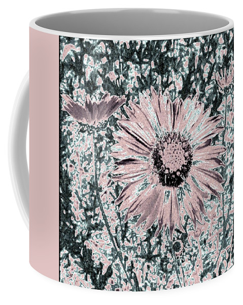 Daisies Coffee Mug featuring the digital art Rose Wine Daisies by Will Borden