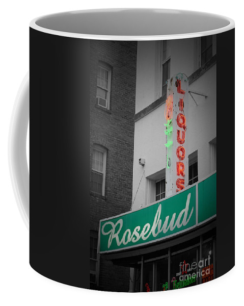 Rosebud Coffee Mug featuring the photograph Rosebud Liquors by Jost Houk