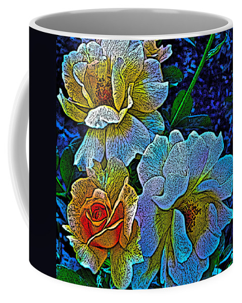 Rose Coffee Mug featuring the photograph Roses Aglow by Gwyn Newcombe