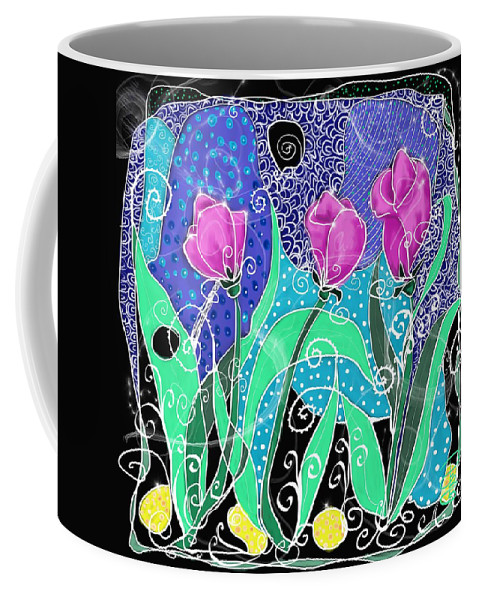 Beautiful Coffee Mug featuring the digital art Roses And Lemons by Debra Baldwin