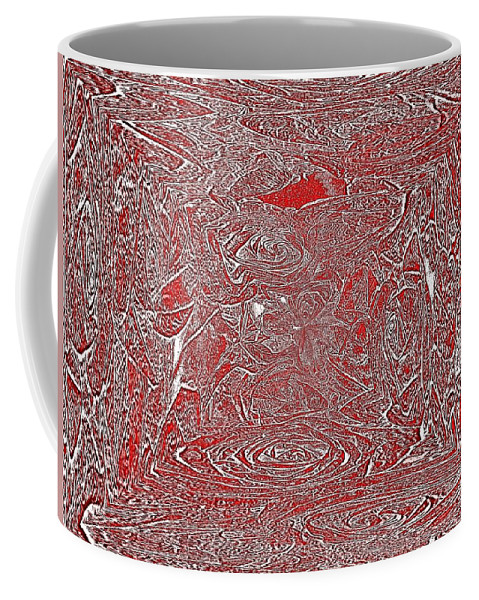 Rose Coffee Mug featuring the digital art Roses Are Red by Tim Allen