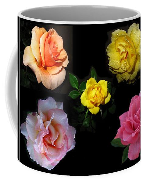 Rose Coffee Mug featuring the photograph Roses Beautiful by Joyce Dickens