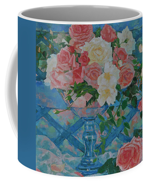 Roses Coffee Mug featuring the painting Roses by Iliyan Bozhanov