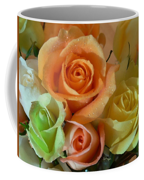 New England Photos Coffee Mug featuring the photograph Roses In Pastel by Nancie DeMellia