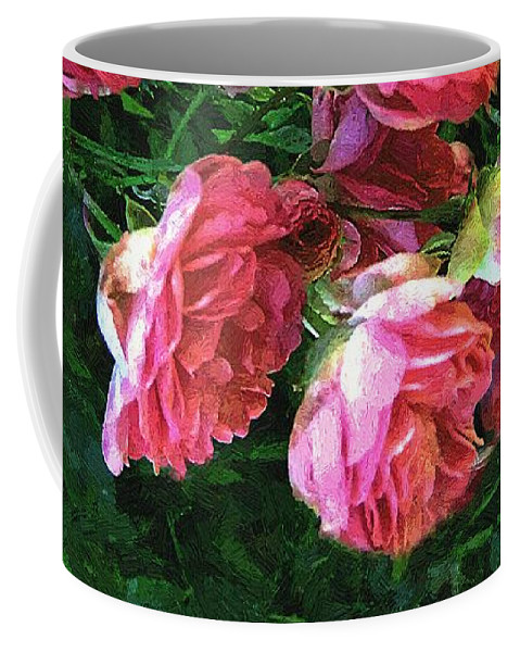 Roses Coffee Mug featuring the painting Roses Roses by RC DeWinter