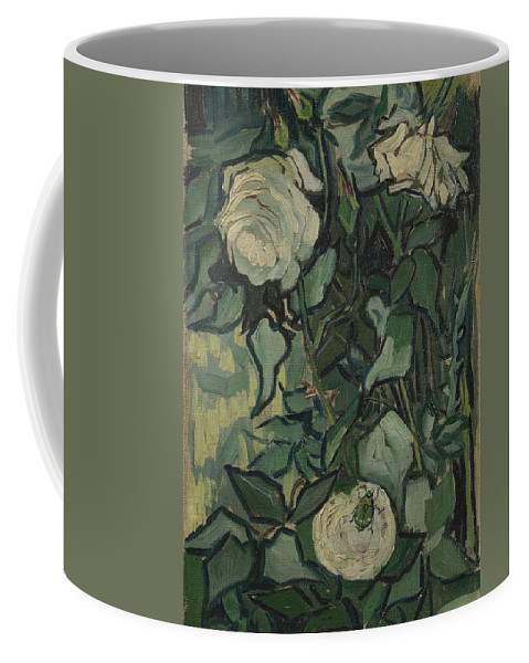 Art Coffee Mug featuring the painting Roses Saint Remy De Provence May-june 1889 Vincent Van Gogh 1853 1890 by Artistic Panda