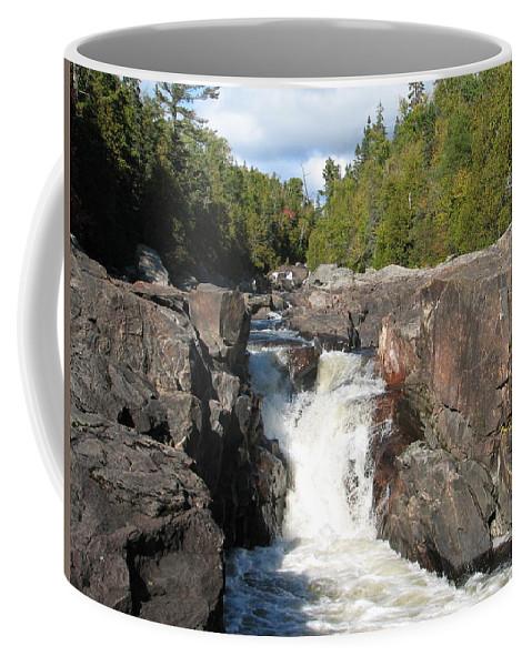 Waterfall Coffee Mug featuring the photograph Rosetone Falls by Kelly Mezzapelle