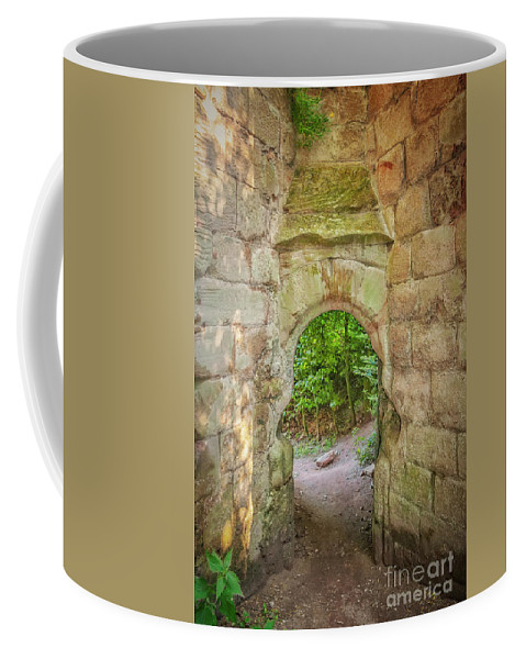 Castle Coffee Mug featuring the photograph Rosslyn Castle Forest Entry by Antony McAulay