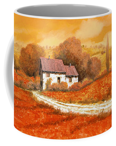 Tuscany Coffee Mug featuring the painting I papaveri rossi by Guido Borelli