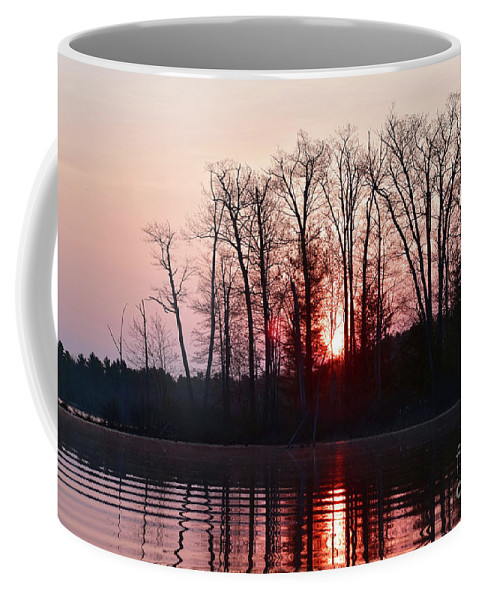 Sunrise Coffee Mug featuring the photograph Rosy Sunshine by Jan Mulherin
