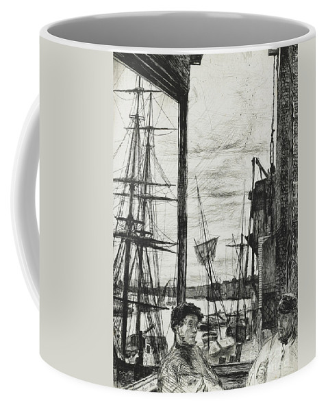 Whistler Coffee Mug featuring the drawing Rotherhithe by James Abbott McNeill Whistler