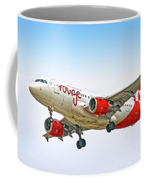 Airlines Coffee Mug featuring the digital art Rouge by Gerald Voigt