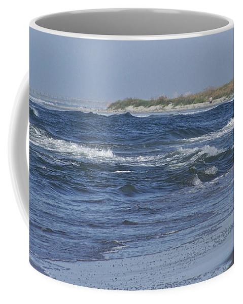 Ocean Coffee Mug featuring the photograph Rough Day At The Beach by Teresa Mucha