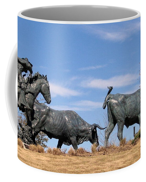 Bachus Cemetery Landmark Plano Tx Collin County Coffee Mug featuring the photograph Round Em Up by Amy Hosp