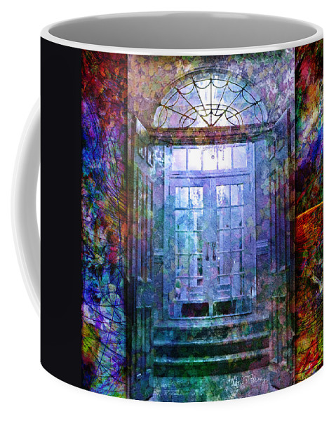 Arch Coffee Mug featuring the digital art Rounded Doors by Barbara Berney