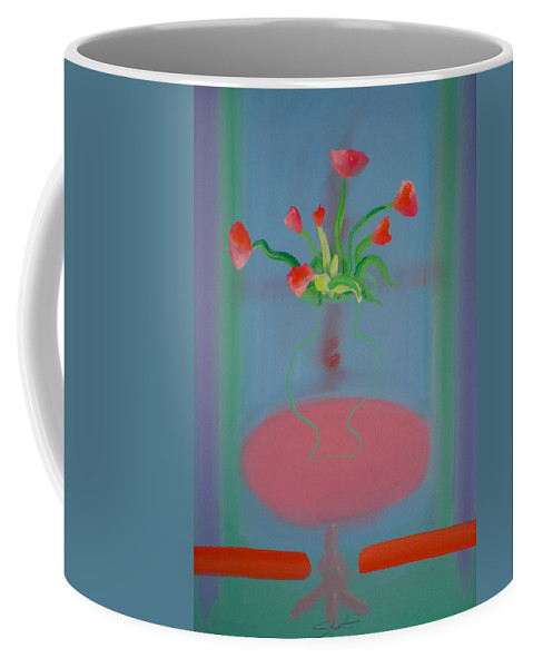 Flower Coffee Mug featuring the painting Rouseau Flowers by Charles Stuart