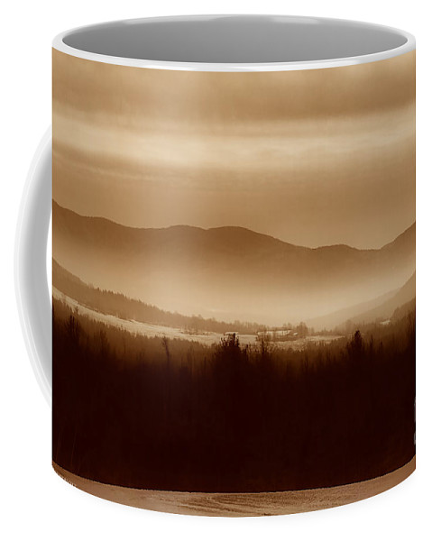 Landscape Coffee Mug featuring the photograph Route 120 Vermont View by Deborah Benoit