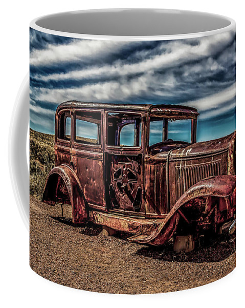 Antique Coffee Mug featuring the photograph Route 66 Car by Jon Burch Photography