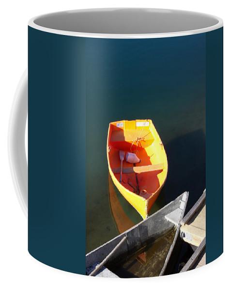 Rockport Ma Coffee Mug featuring the photograph Rowboats In Rockport, Ma by Nicole Freedman